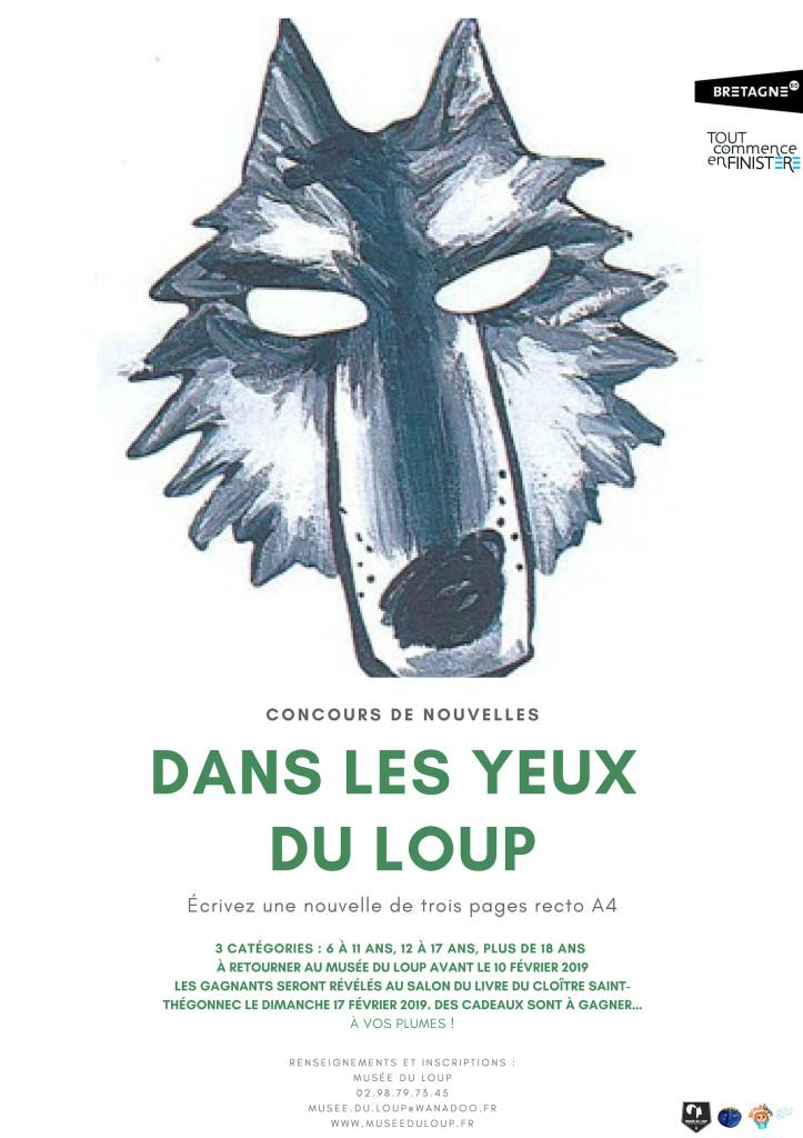 Affiche Concours de nouvelles 2019 Musée du Loup