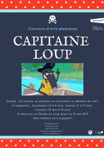 Affiche concours d'arts plastiques 2019-Musée du Loup