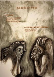 Affiche balades en ville-Salon du Livre 2018-Musée du Loup