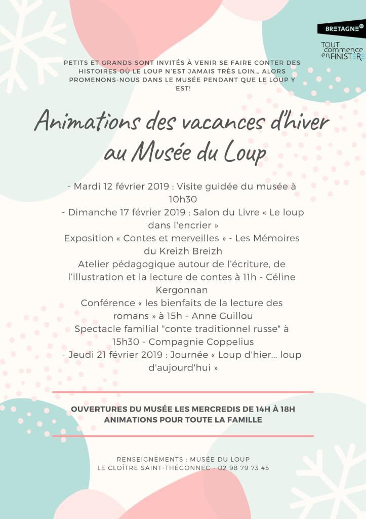 Affiche vacances d'hiver 2019-Musée du Loup BQ