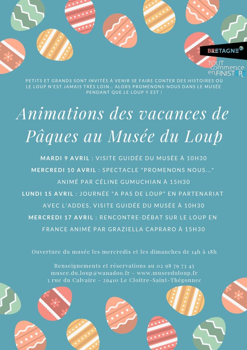 Animations des vacances de Pâques au Musée du Loup