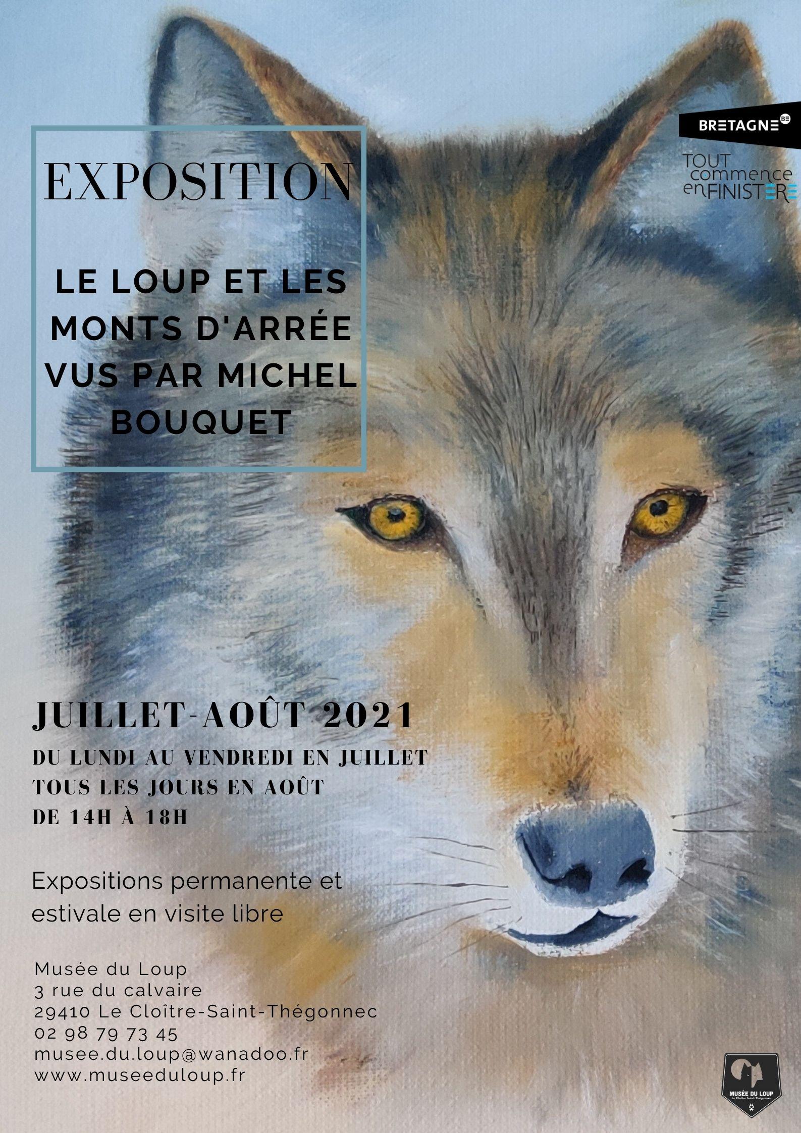 Affiche expo Michel Bouquet 2021