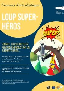 Concours d'arts plastiques 2022_Loup Super-Héros_Musée du Loup
