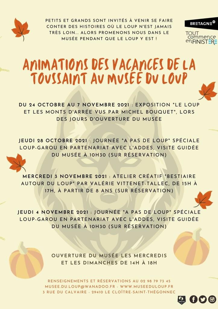Affiche vacances de la Toussaint 2021